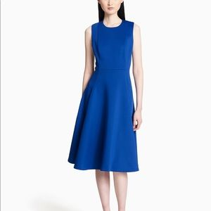 Calvin Klein Scuba Fit + Flare Dress
